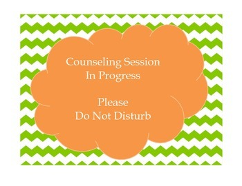 Counseling Session - Door Sign