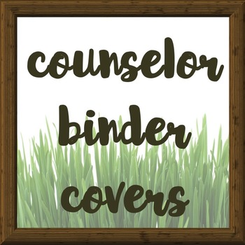 School Counselor Binder Covers for Transcript Audits (and more)!