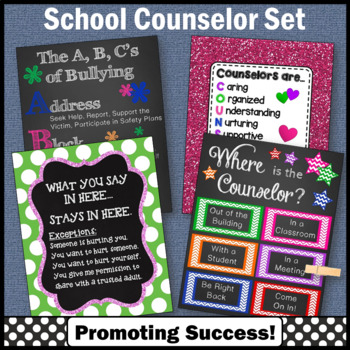 National School Counseling Appreciation Week Set of 4 Coun