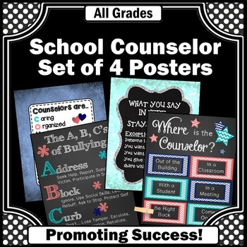 School Counselor Appreciation Week Set of 4 Posters for Ea
