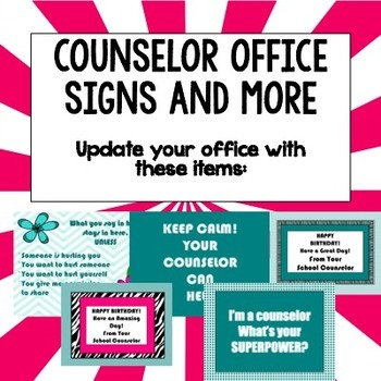 Counselor Office Signs and More