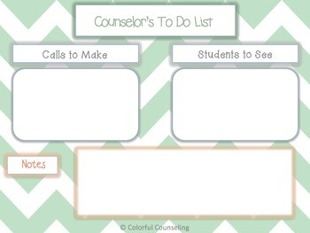 Counselor's To Do List