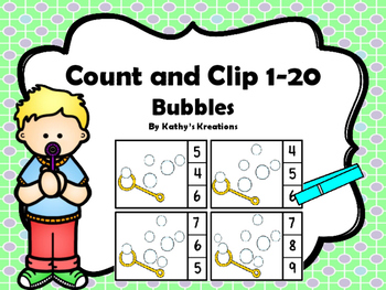 Count And Clip 1-20 Bubbles