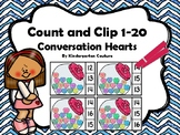 Count And Clip 1-20 Conversation Hearts
