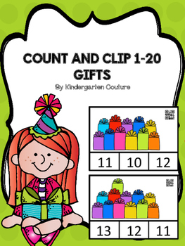Count And Clip 1-20 Gifts  (QR Code Ready)