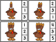 Count And Clip 1-20 Turkeys