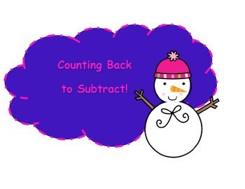 Count Back to Subtract! Winter Snowmen Subtracting