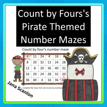 Count By Four's Pirate Themed Number Mazes
