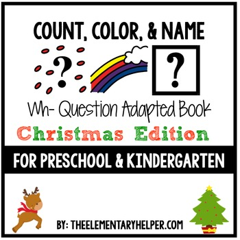 Count, Color and Name Christmas Adapted Book for Preschool