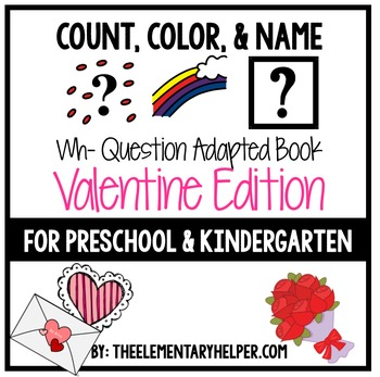 Count, Color and Name Valentine Adapted Book for Preschool