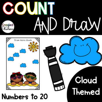 Count, Draw, & Wipe {Cloud Themed}