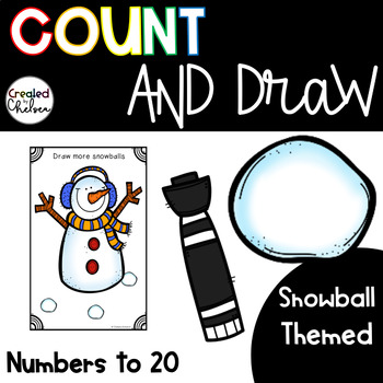 Count, Draw, & Wipe {Snowball Themed}