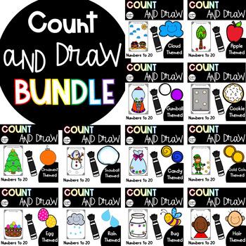 Count, Draw, & Wipe {Yearlong Bundle!}