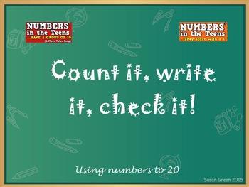 Count It, Write It, Check It Mimio