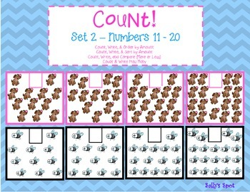 Count! Set 2 Numbers 11 - 20 Count & Order by Amount   Cou
