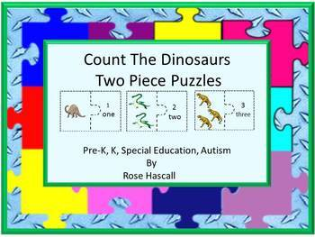 Dinosaurs Two Piece Count the Dinosaurs puzzle