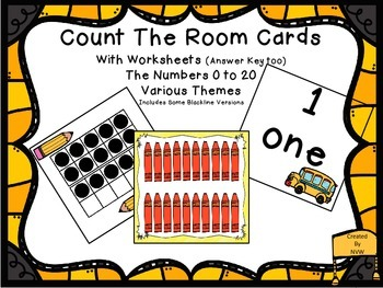Count The Room Cards and Worksheets BIG BUNDLE