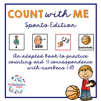 Count With Me: Sports Adapted Book