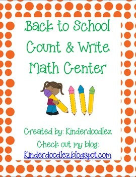 Back to School Count & Write Pencils