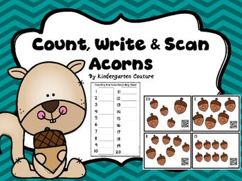 Count, Write & Scan Acorns 1-20