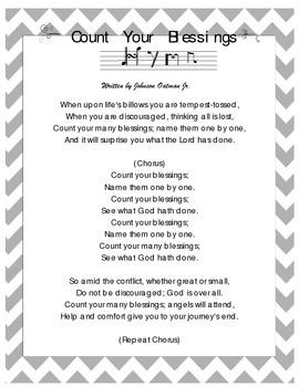 Count Your Blessing Hymn Lyrics