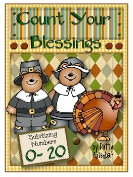 Thanksgiving Cards to Subitize and Count 0-20