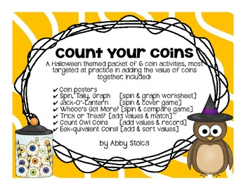 Count Your Coins [Halloween Themed Coin Activities]