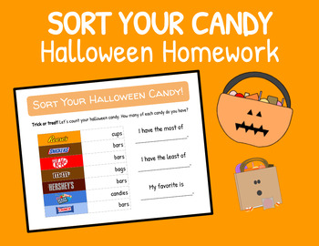 Count Your Halloween Candy! - Homework for Primary Grades