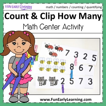 Count and Clip How Many - Hands-on Math Activity {Common C