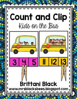 Count and Clip~ Kids on the Bus