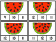 Count and Clip Watermelon Seeds  1-20