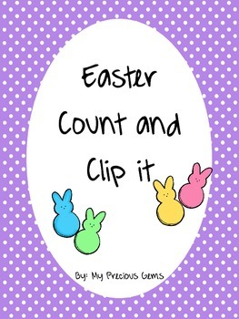 Count and Clip it Easter Theme