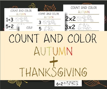 Count and Color - Autumn and Thanksgiving