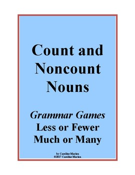 Count and Noncount Nouns (Grammar Games Less or Fewer, Muc