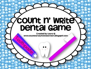 Count & Write: A Dental Counting Game for Pre-k and Kindergarten
