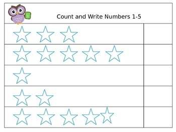 Count and Write Numbers 1-10