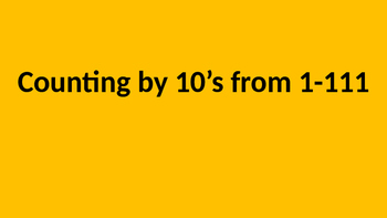 Count by 10's Off the Decade (1) Fluency PPT