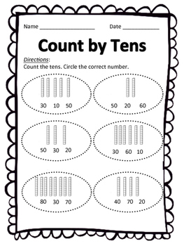 Count by 10's with/without Dimes WS