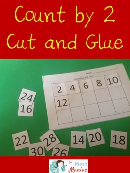Count by 2 Cut and Glue Freebie