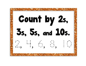 Count by 2s, 3s, 5s, & 10s, Trace Numbers, Notice Patterns