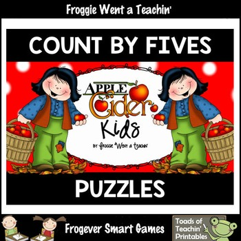 "Count by Fives--Number Sequencing Puzzles to 120 ""Apple Ci"