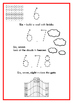 Count forward in ones from 1 - 10: with rhymes (coloring page)