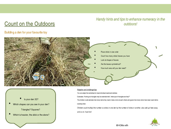 Count on the outdoors with den building