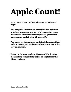 Count the Apples!