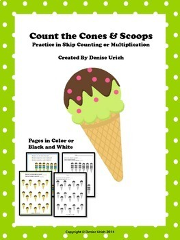 Count the Cones and Scoops - Practice in Skip Counting or
