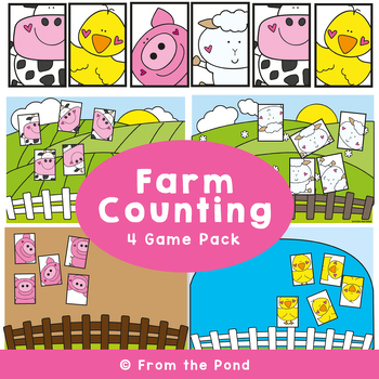 Farm Friends Counting Pack - Math Centers for Early Counting