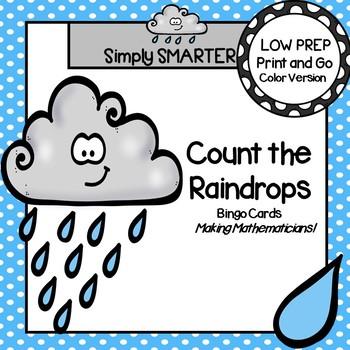 Count the Raindrops:  LOW PREP Counting Bingo