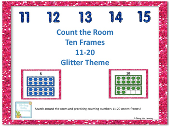 Count the Room Glitter Theme: Ten Frames 11-20