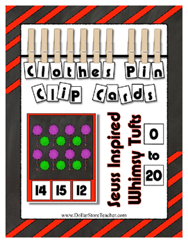 Count to 20 Seuss Inspired Whimsy Tuft Math Center ~ Cloth
