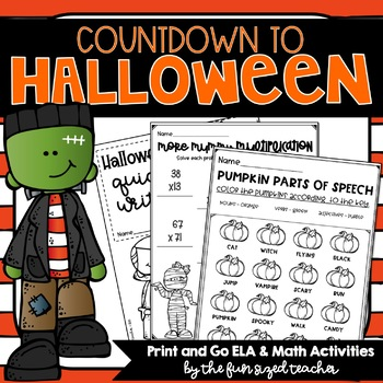 Halloween Literacy and Math Printables